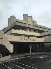 Exterior of the brutalist National Theatre Southbank Centre London