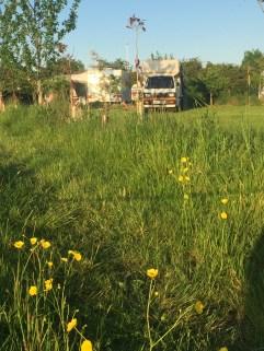 Bedford Bambi Campervan parked in Norfolk