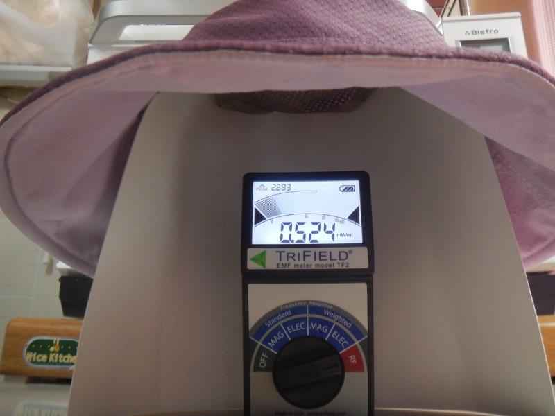 電磁波シールドメッシュ装着時の測定
