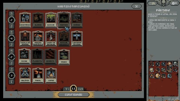 menu del deck in loop hero