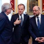 JUNCKER, Jean-Claude (EC) - President of the European Commission; TUSK, Donald - President of the European Council; SCHULZ, Martin (S&D, DE) - EP President
