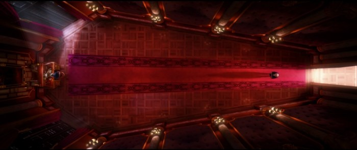 Screenshot: Bild von Anton Egos sargförmigem Büro