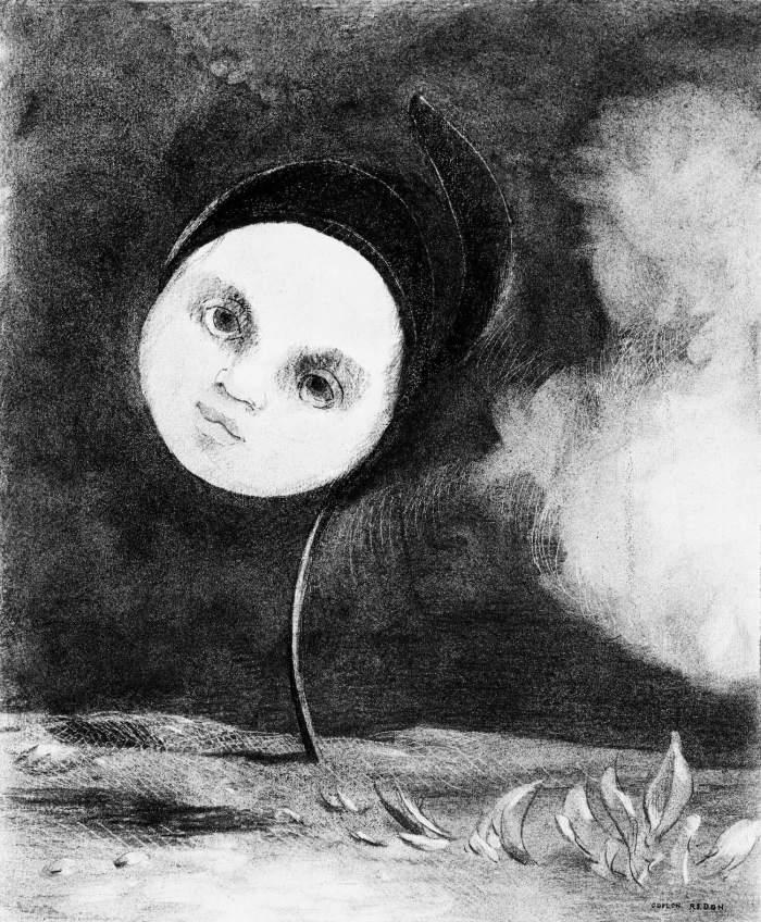 Bild: Odilon Redon, Strange Flower (Little Sister of the Poor) (1880)