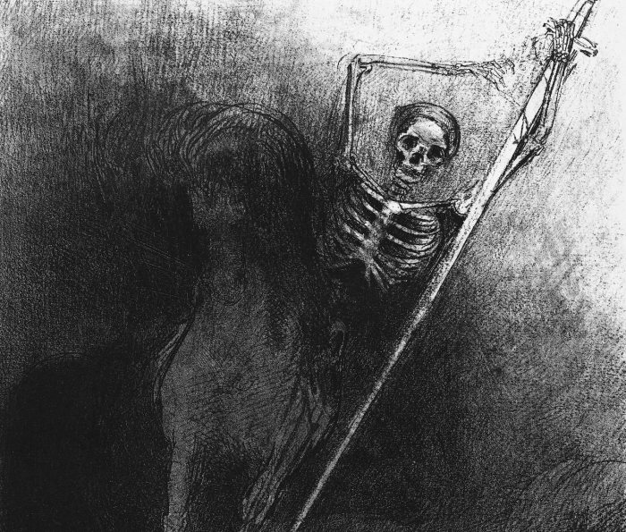 Bild: Odilon Redon, And His Name That Sat on Him Was Death (1899)