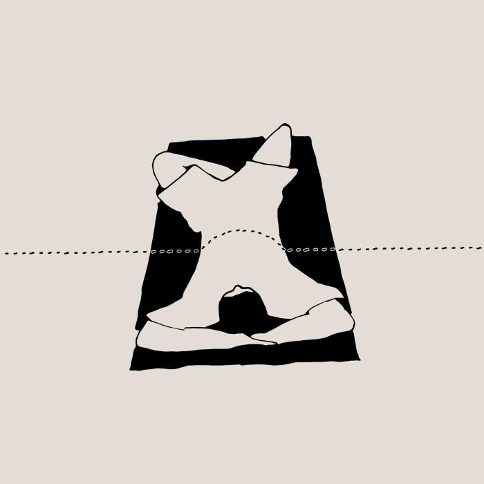 Panel 3: Es kribbelt und krabbelt eine Ameisenstrasse über den Bauch.