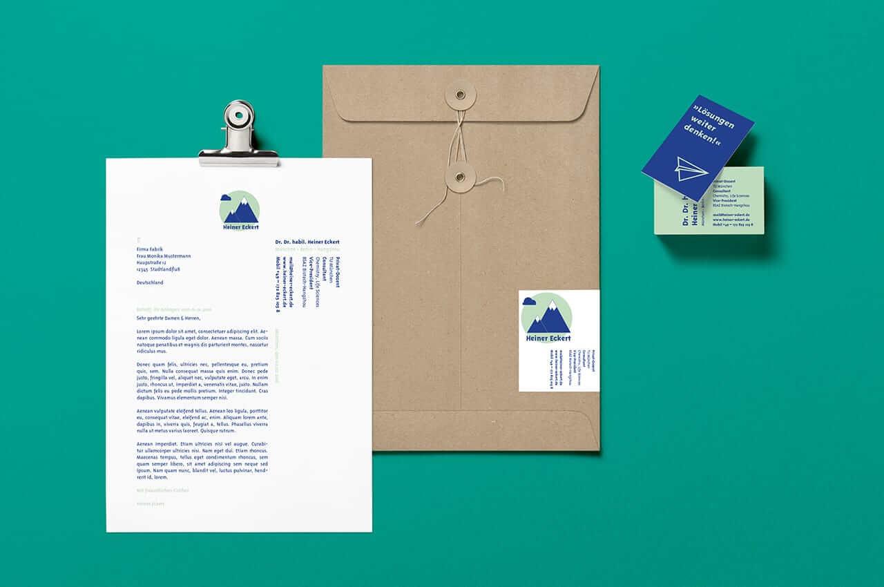 Denken und Handeln – die Konzeptagentur für langfristige Gestaltung hat gemeinsam mit Heiner Eckert seine Corporate Identity gestaltet.