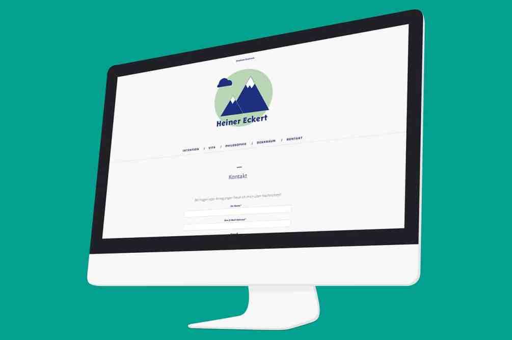 Denken und Handeln – die Konzeptagentur für langfristige Gestaltung hat für Heiner Eckert das Webdesign gestaltet