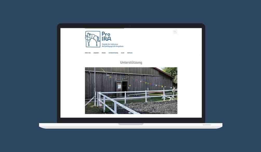Denken und Handeln – die Konzeptagentur für langfristige Gestaltung hat für Pro Ira das Webdesign gestaltet