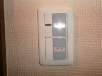 換気扇のスイッチが表示しない