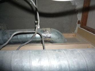 トイレ側スパイラルダクト管