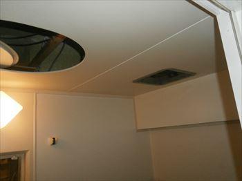 ユニットバス浴室換気扇撤去準備