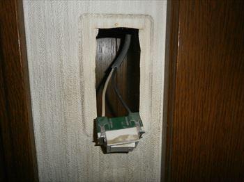 故障したスイッチの取外し作業