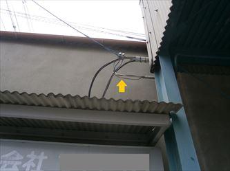 改修前の電灯引込み線