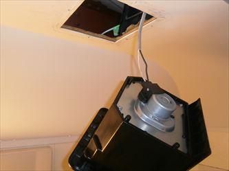 浴室換気扇電源接続