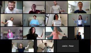 Online Energizer tijdens een virtuele brainstorm