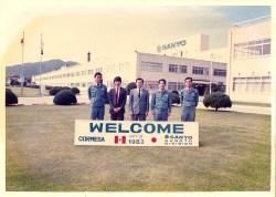 Ing. Alberto Minoru Nakano en la sede de Sanyo, Japón.