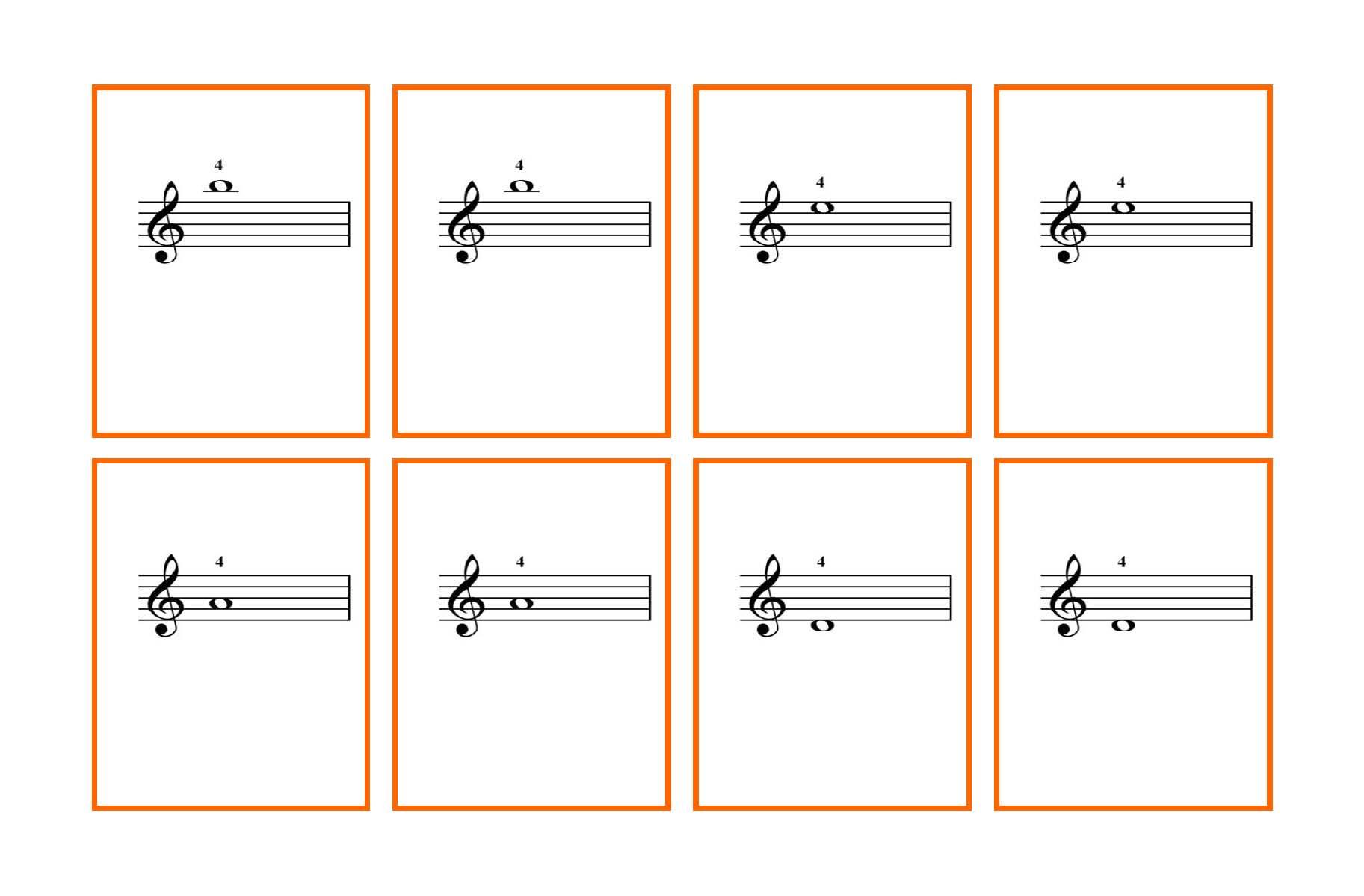 Enterprising Musical Note Flashcards Printable