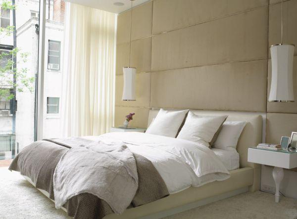 Đèn thả tông màu nhẹ nhàng mang cảm giác thư giãn cho phòng ngủ