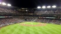 View from centerfield near score board