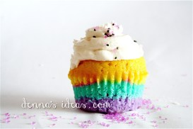 Rainbows and sugar frosted cupcakes