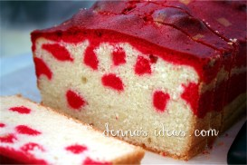 Canada Day Polka Dot Pound Cake