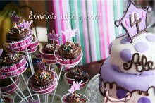 Polka Dot party cakes and cupcakes