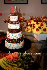 Mile-High Triple Chocolate Apple-of-my-eye Cake from Rolie Polie Olie cartoon