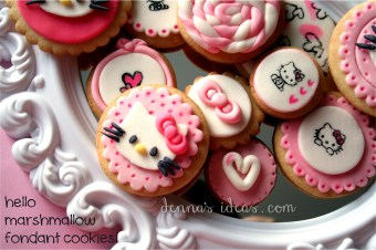 Fondant covered and stamped cookies