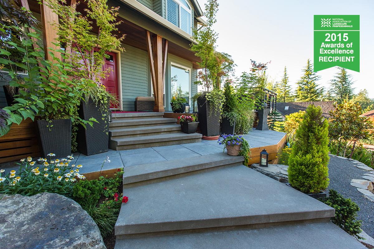 curb appeal landscape feature photo