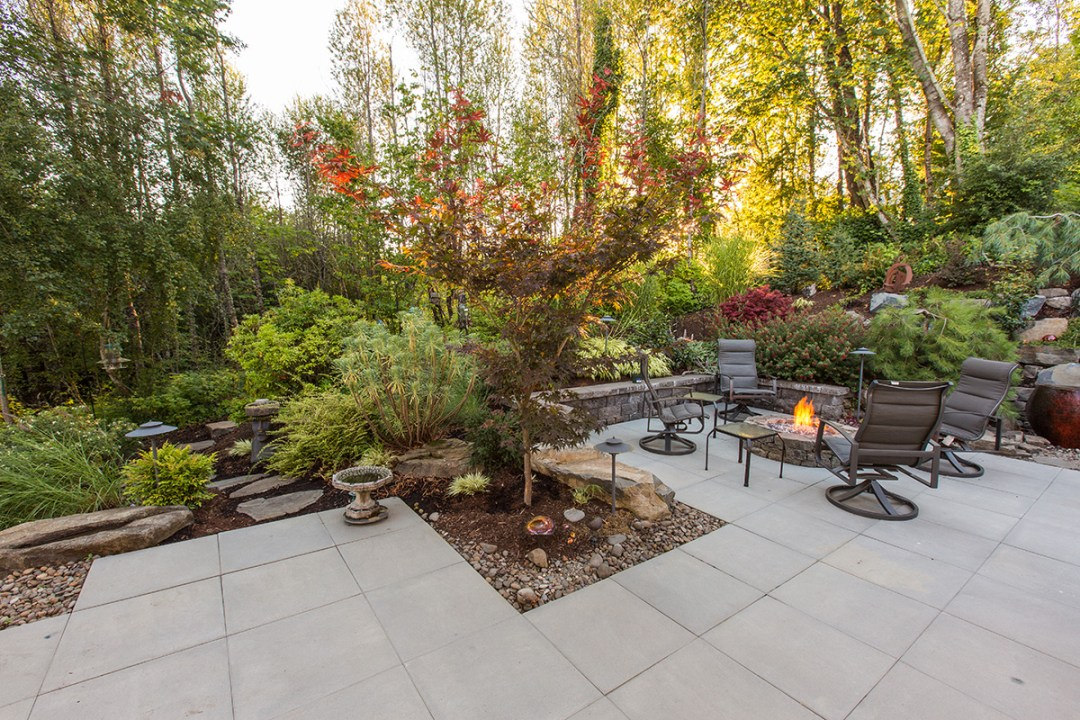 Fire pit and outdoor living area