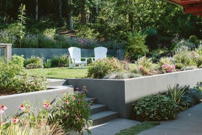 residential landscape adirondack chairs