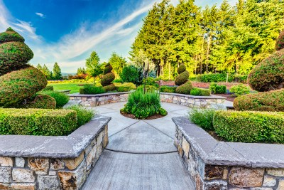 topiary and hardscaping