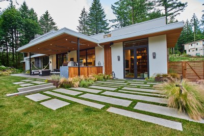 residential landscaping patio portland home