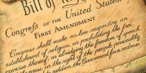 First Amendment set in stone...