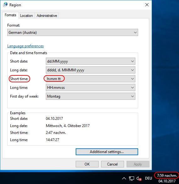 Configuring Regional Settings and Windows locales with Group Policy - Short time not modified