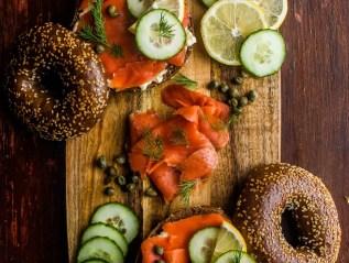 Smoked Salmon Breakfast Scene