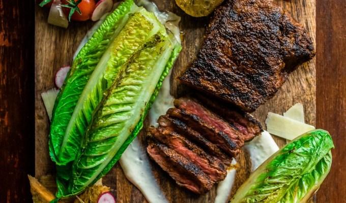 Date Night Grilled Steak Caesar Salad