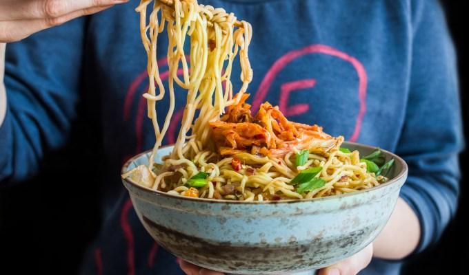 Spicy Pork & Kimchi Noodles