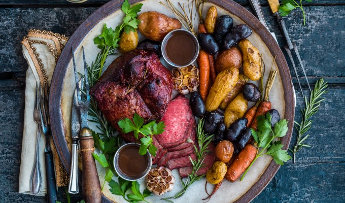 Smoked Rosemary Garlic Beef Roast