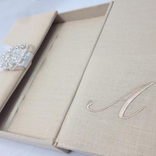 Luxury Linen Wedding Invitation Box