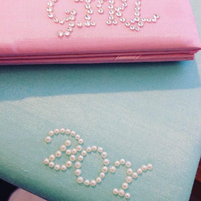 Luxury Baby Shower Pocket Fold Invitations