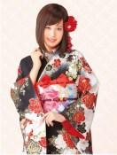 Atsuko dark and light kimono!