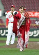 First pitch in kimono