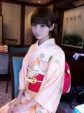 Mariko in pink kimono