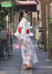 Rena Matsui around town in yukata