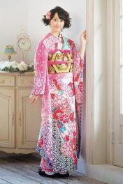 Rena Matsui floral kimono