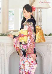 rm dark and floral kimono