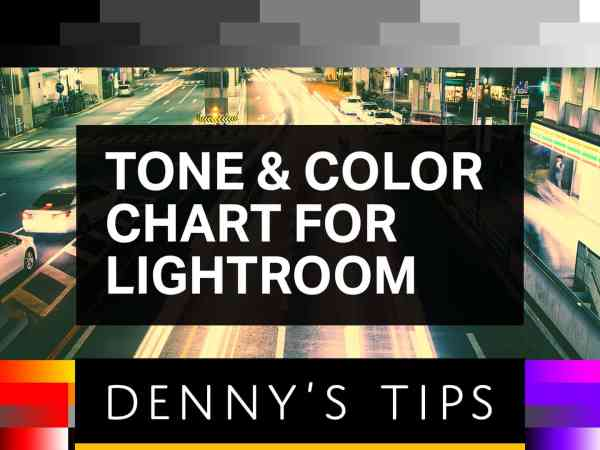 Tone & Color Chart for Lightroom