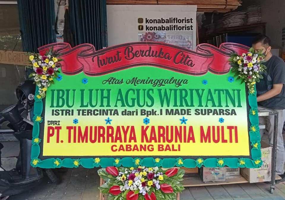 Toko Papan Karangan Bunga Pembukaan Toko di Karangasem
