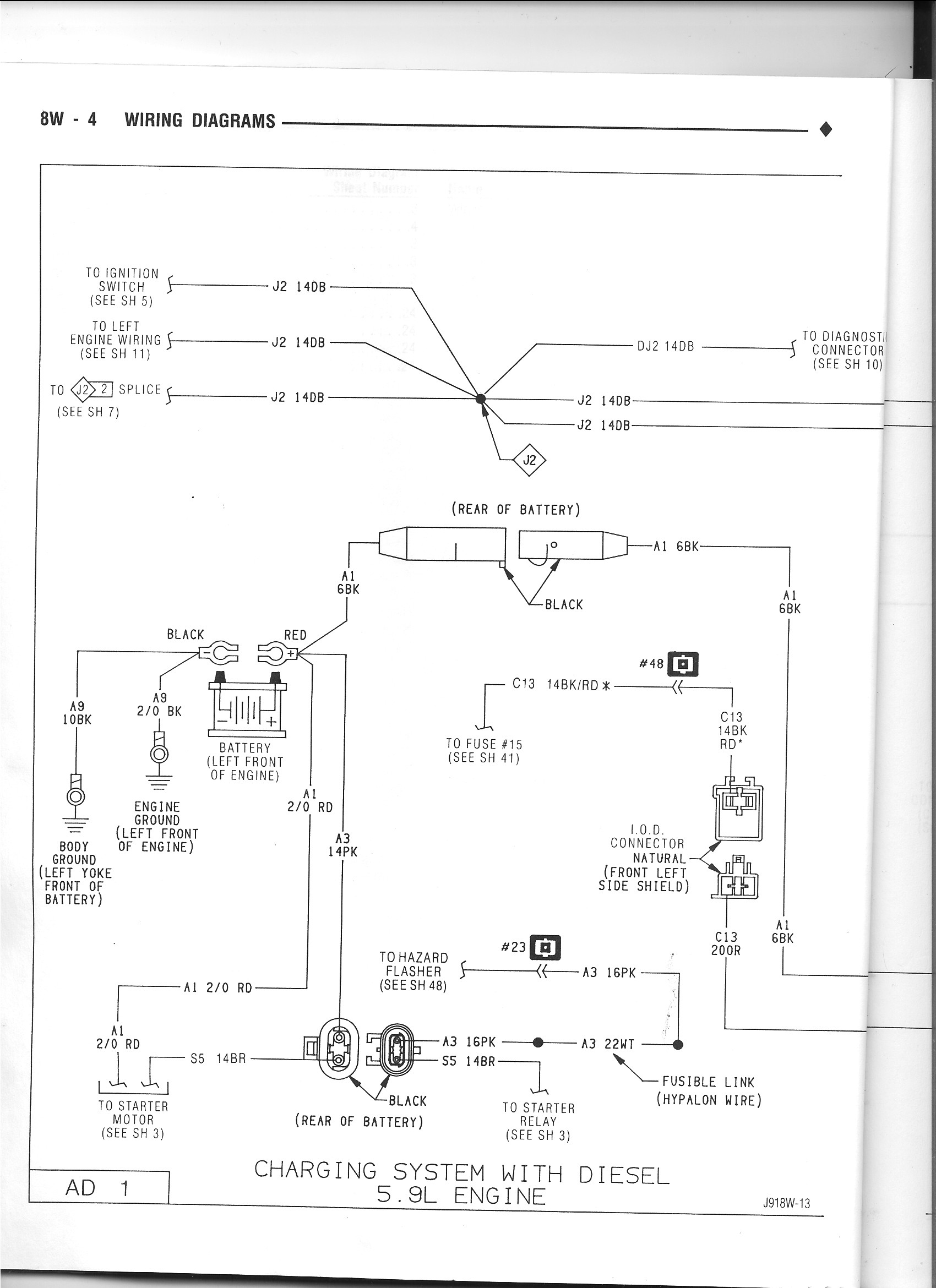 cummins alternator wiring diagram free download wiring diagram rh xwiaw us 1992 Dodge Dakota Wiring Diagram Dodge Neon Wiring Harness Diagram